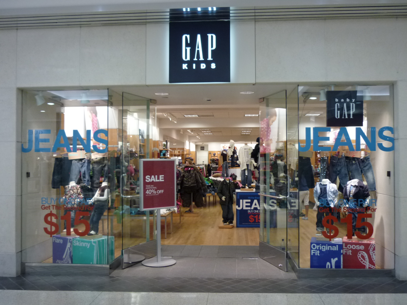 Gap Outlet - Kids & Baby outlet store is in Kittery Premium Outlets located on Route 1, Kittery, ME , Maine. Information about location, shopping hours, contact phone, direction, map and events.